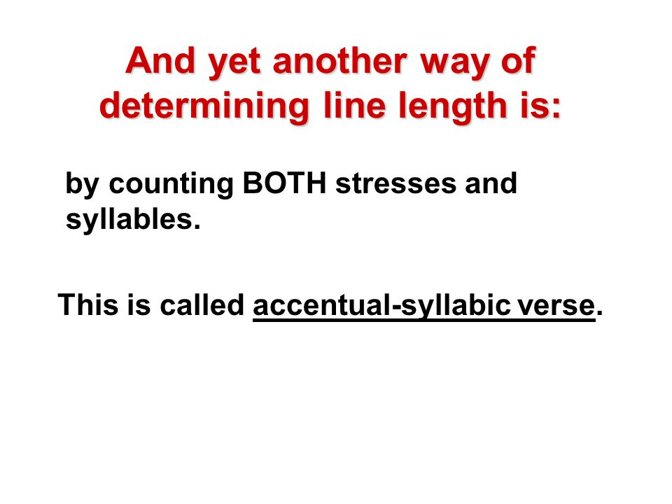 And yet another way of determining line length is: