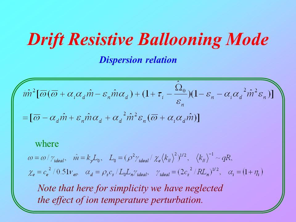 Drift Resistive Ballooning Mode