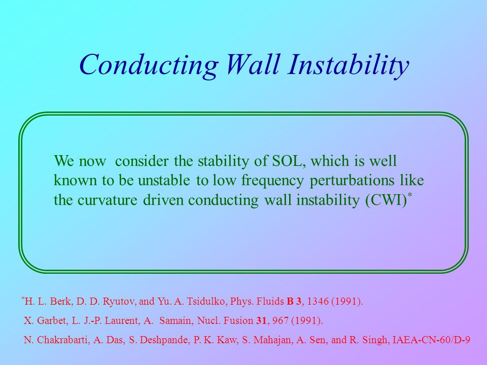 Conducting Wall Instability