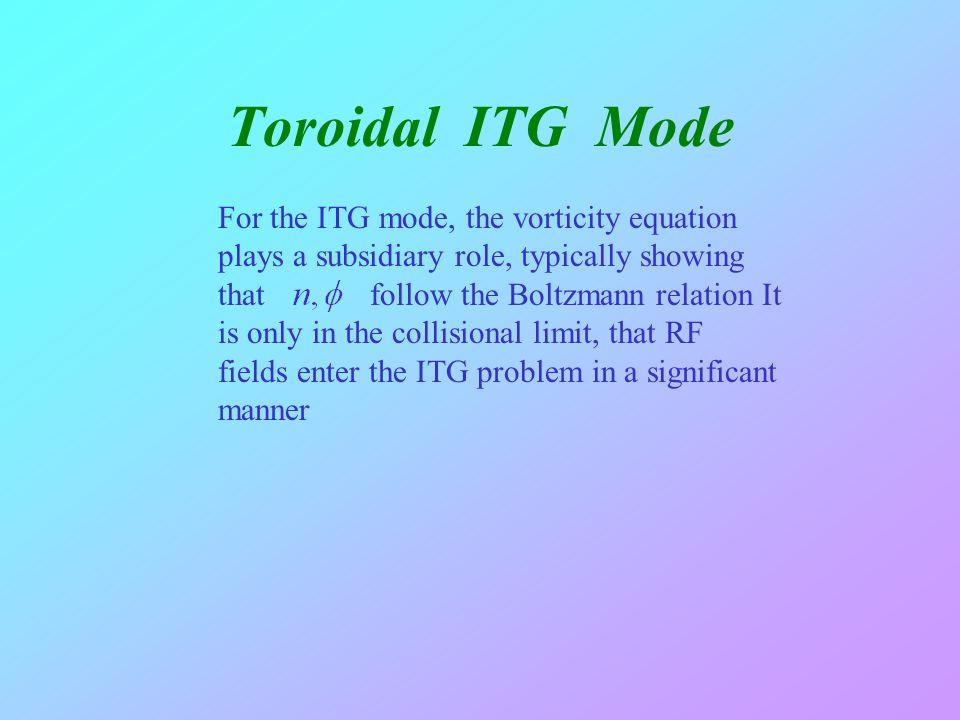Toroidal ITG Mode