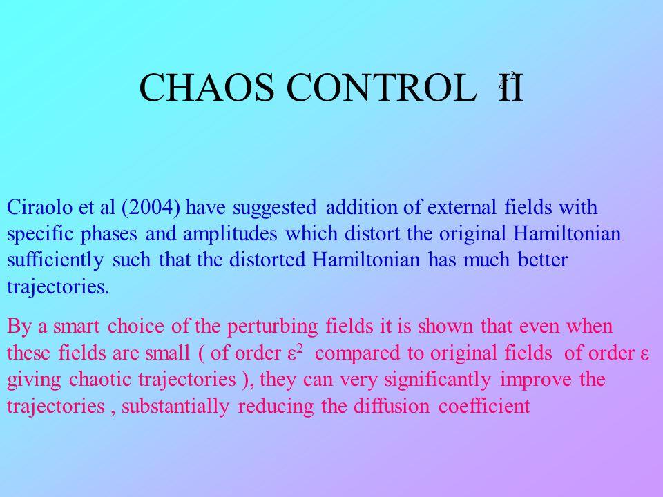 CHAOS CONTROL II