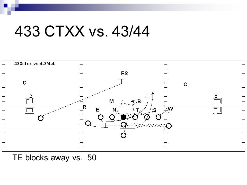 433 CTXX vs. 43/44 TE blocks away vs. 50