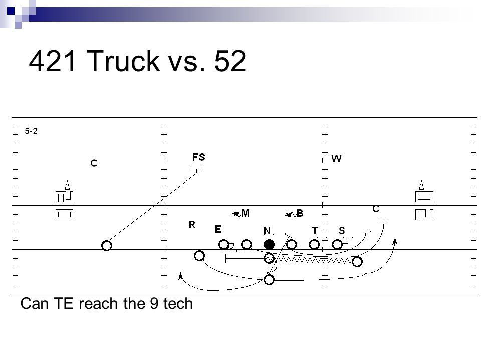 421 Truck vs. 52 Can TE reach the 9 tech