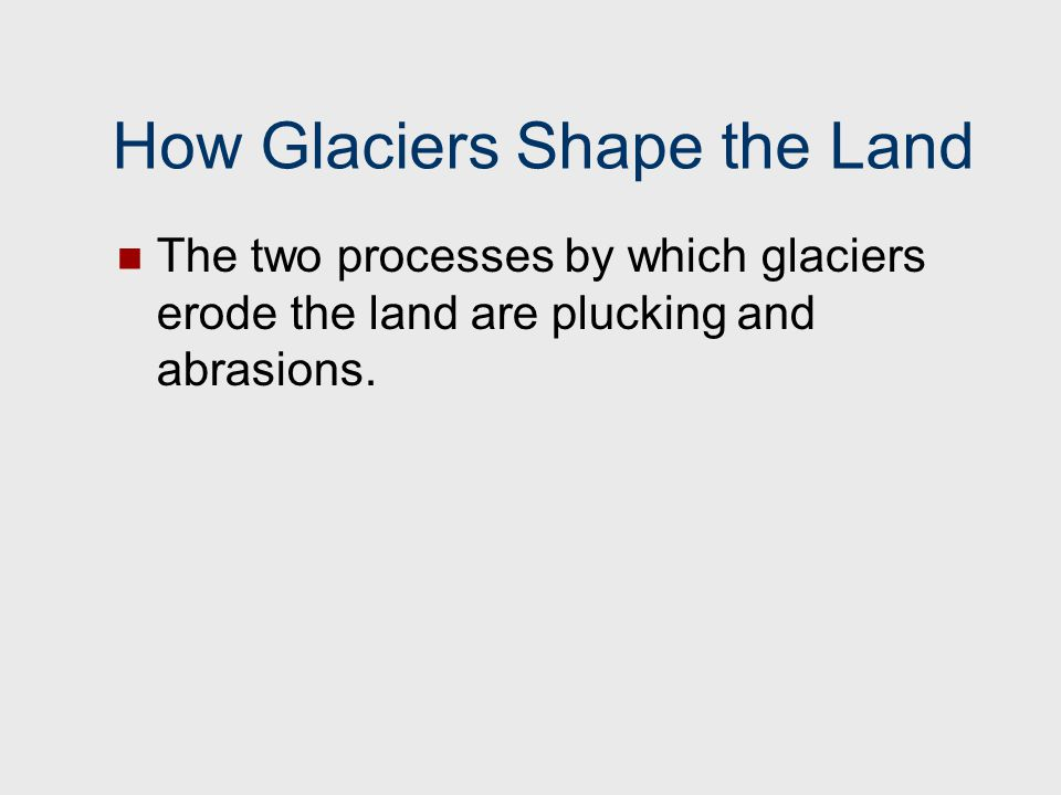How Glaciers Shape the Land