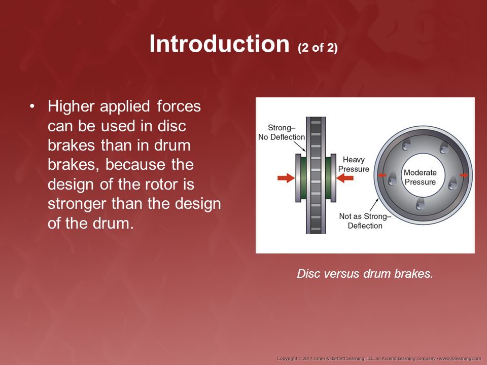 Disc versus drum brakes.
