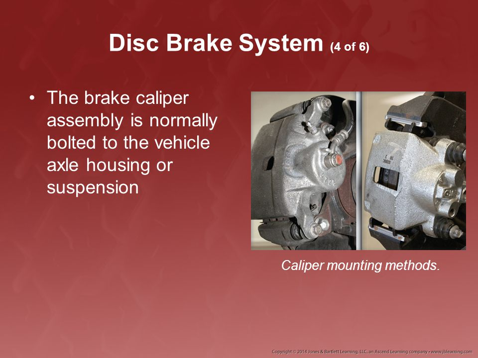 Caliper mounting methods.