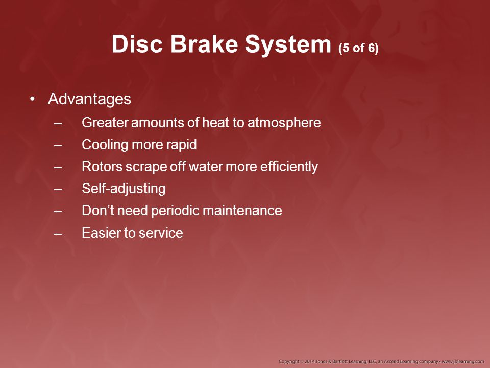 Disc Brake System (5 of 6) Advantages