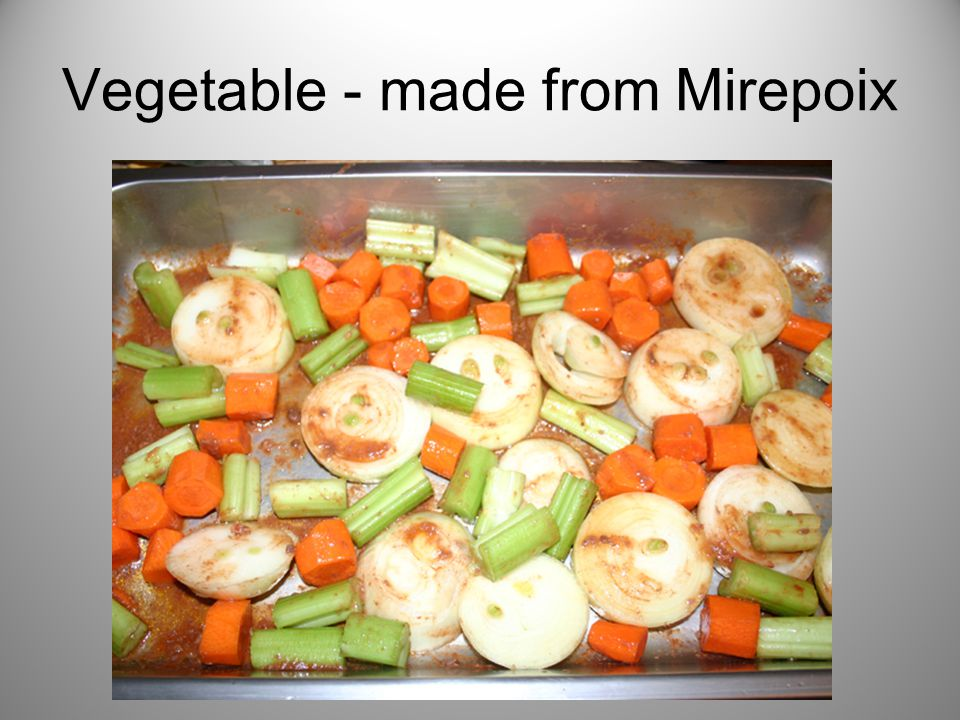 Vegetable - made from Mirepoix