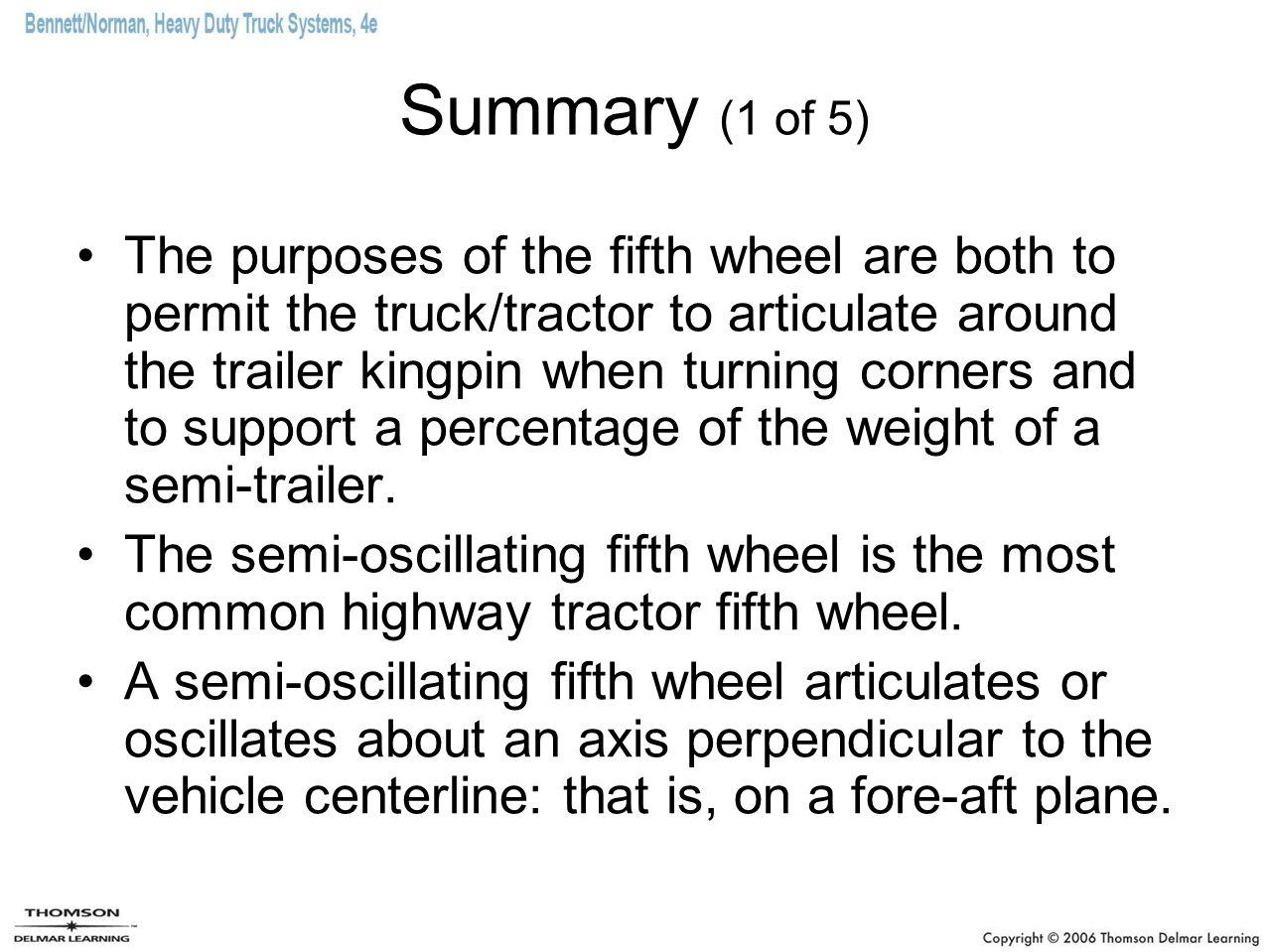 Summary (1 of 5)