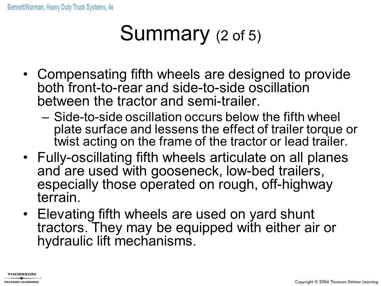 Summary (2 of 5)