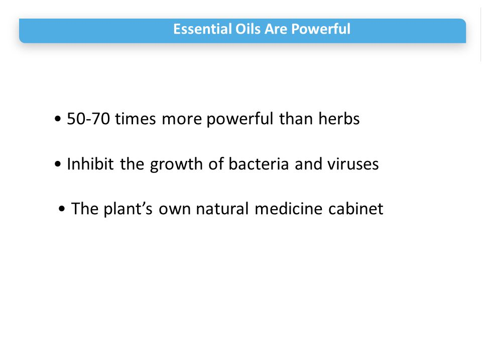 • 50-70 times more powerful than herbs