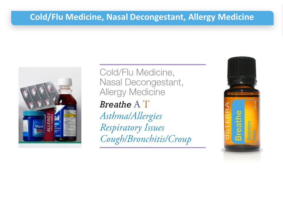 Cold/Flu Medicine, Nasal Decongestant, Allergy Medicine