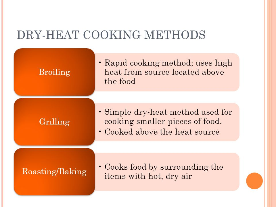 DRY-HEAT COOKING METHODS