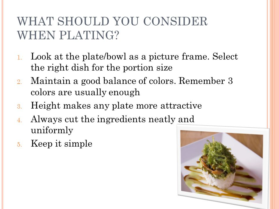 WHAT SHOULD YOU CONSIDER WHEN PLATING