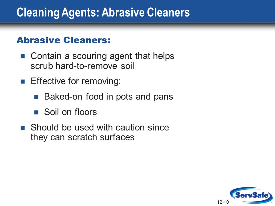 Cleaning Agents: Abrasive Cleaners