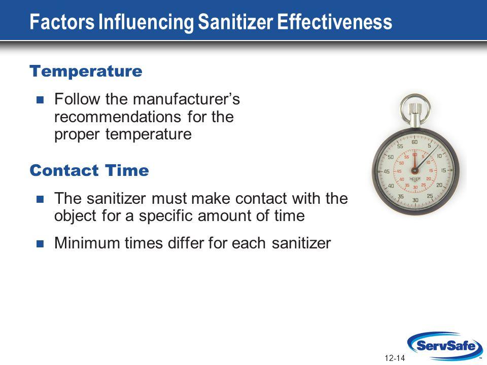 Factors Influencing Sanitizer Effectiveness