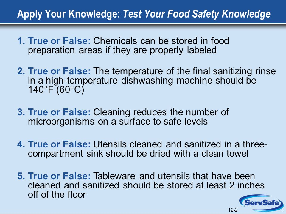 Apply Your Knowledge: Test Your Food Safety Knowledge