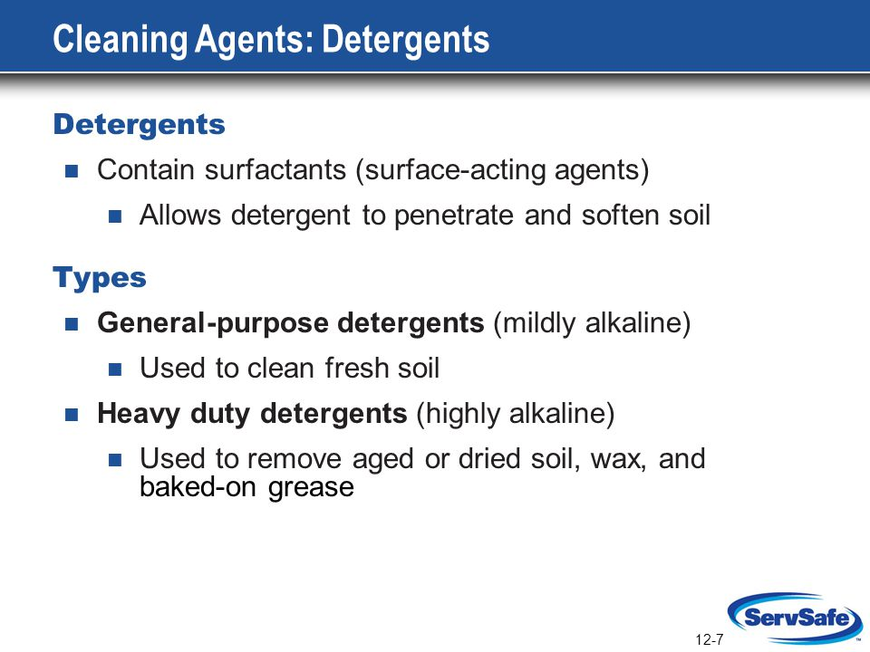 Cleaning Agents: Detergents