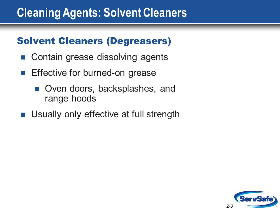 Cleaning Agents: Solvent Cleaners
