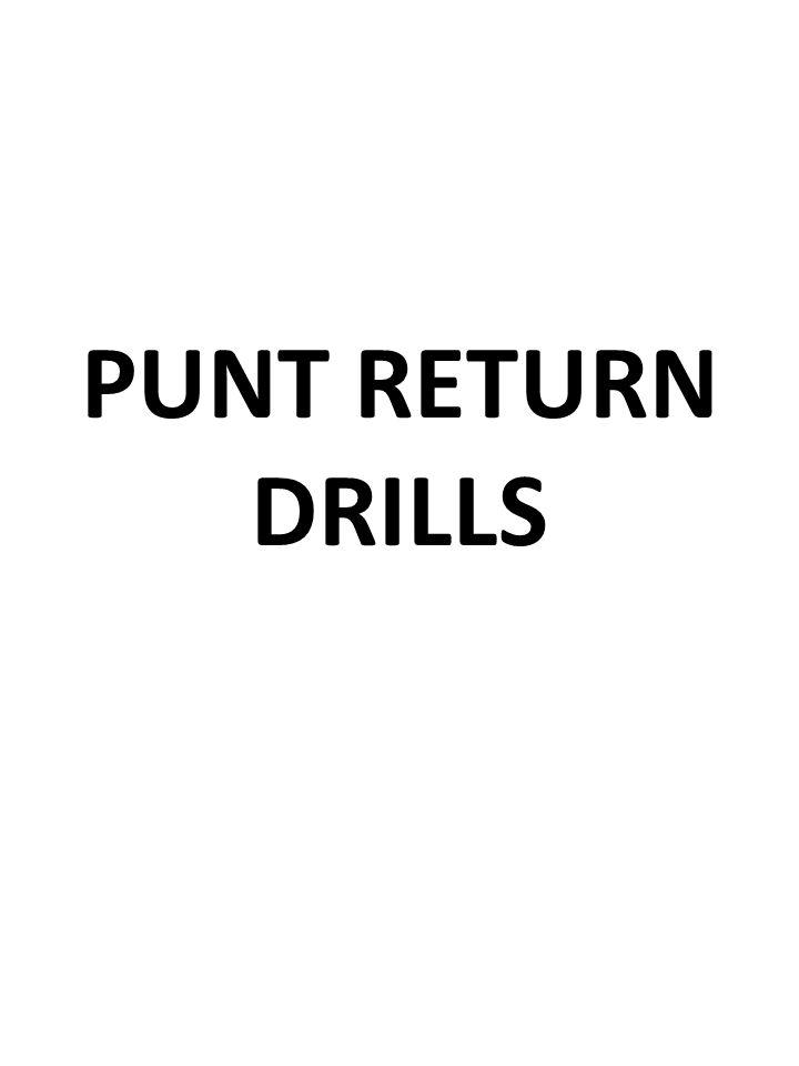 PUNT RETURN DRILLS