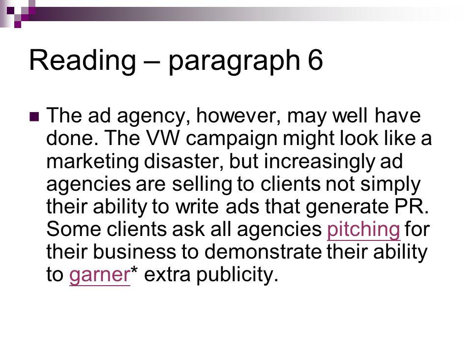 Reading – paragraph 6