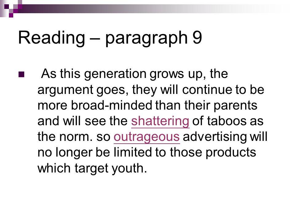 Reading – paragraph 9