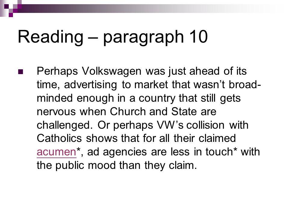 Reading – paragraph 10