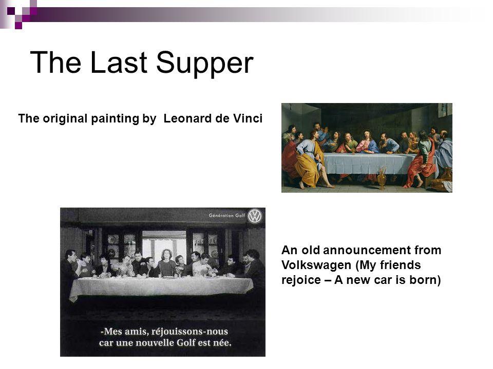The Last Supper The original painting by Leonard de Vinci