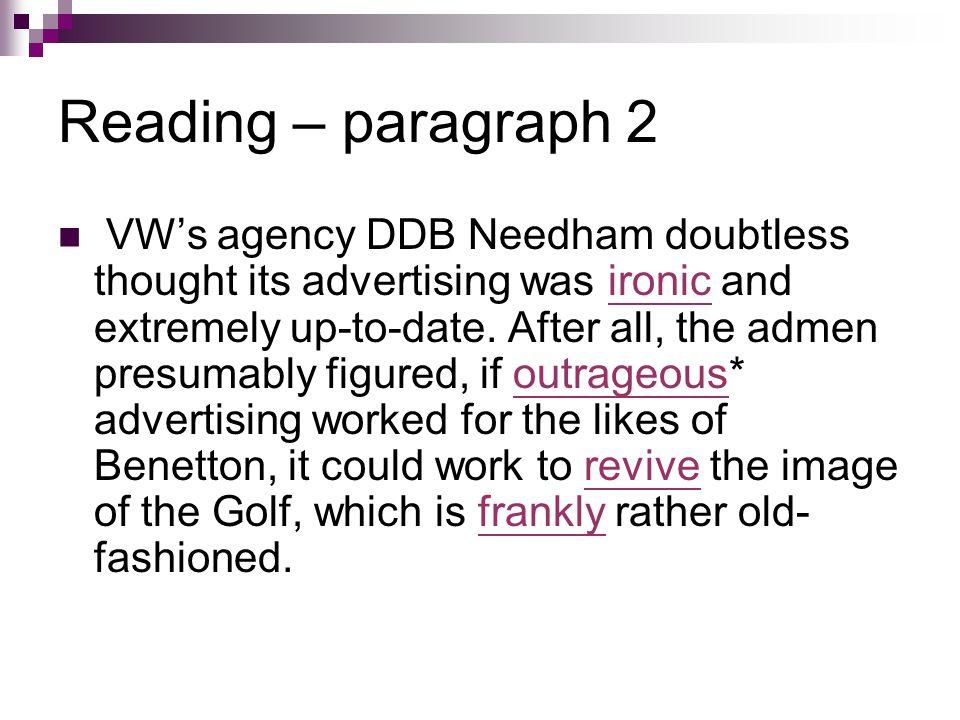 Reading – paragraph 2