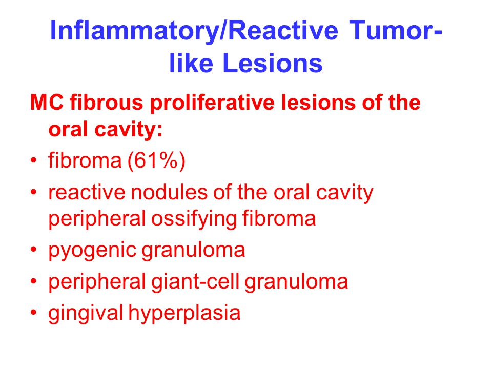 Inflammatory/Reactive Tumor-like Lesions