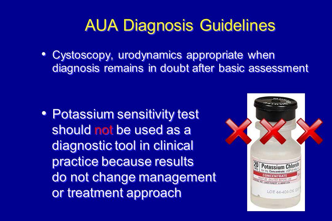 AUA Diagnosis Guidelines