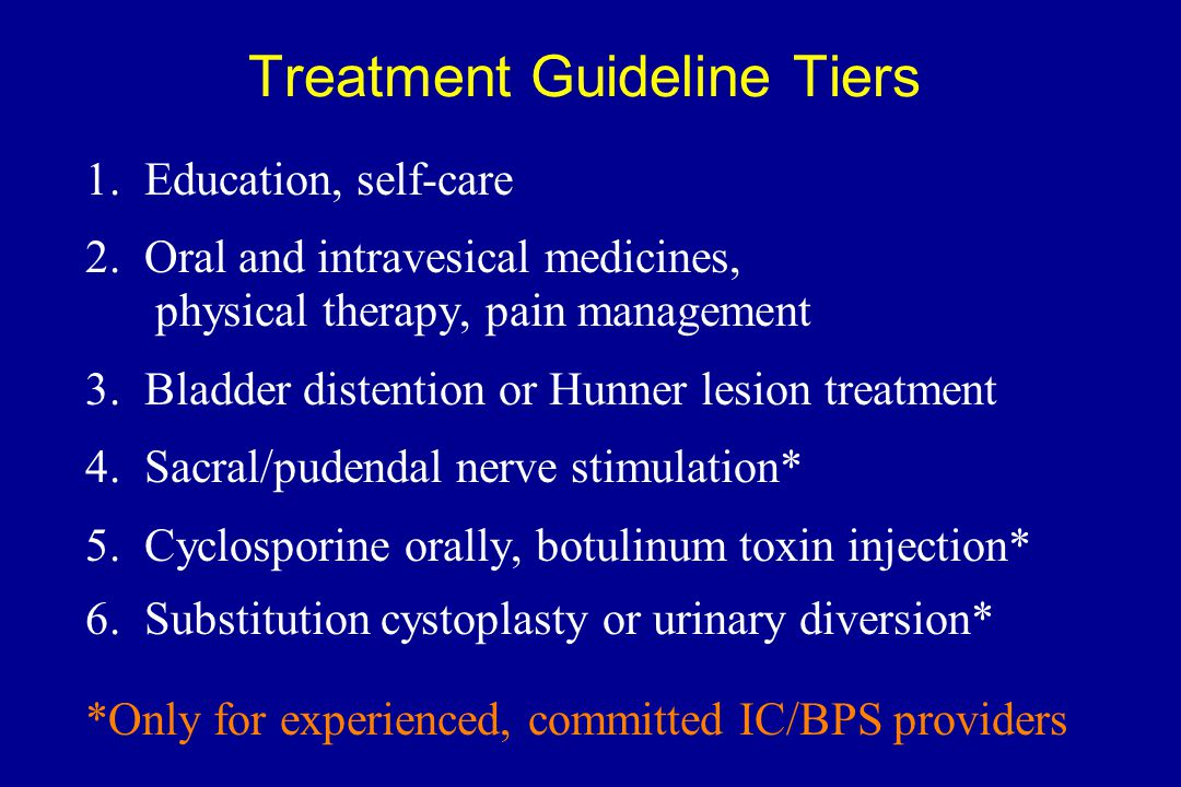 Treatment Guideline Tiers