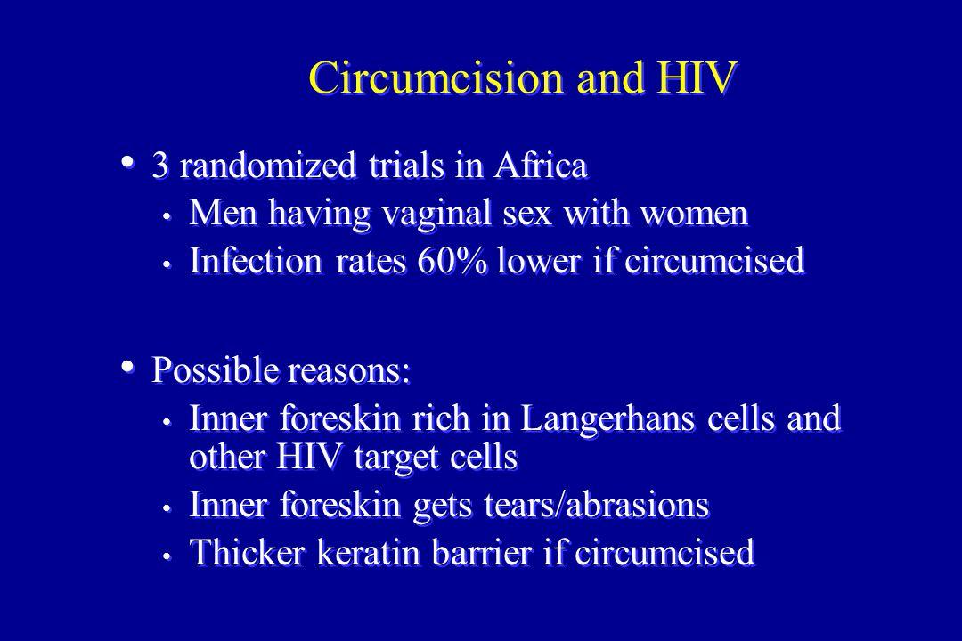 Circumcision and HIV 3 randomized trials in Africa