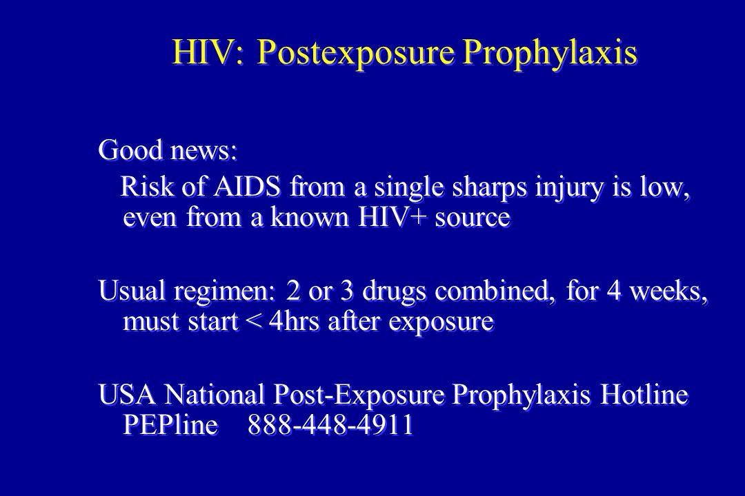 HIV: Postexposure Prophylaxis
