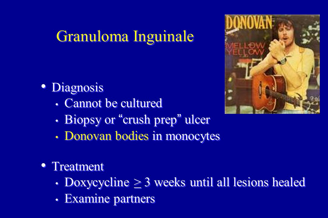 Granuloma Inguinale Diagnosis Cannot be cultured