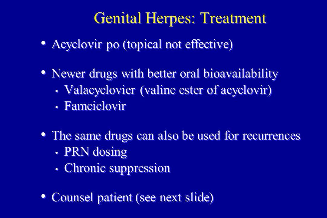 Genital Herpes: Treatment