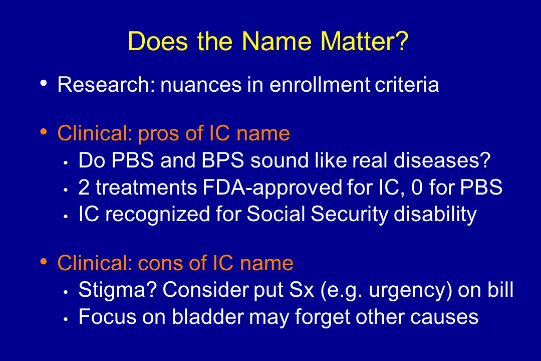 Does the Name Matter Research: nuances in enrollment criteria