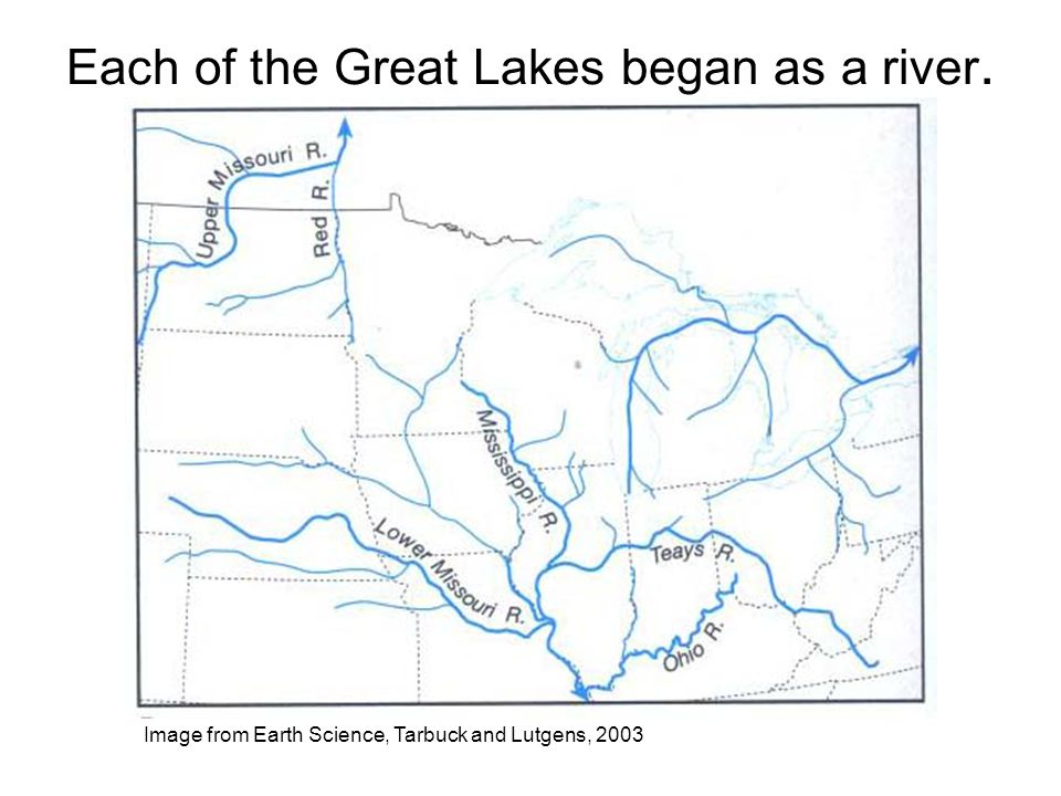 Each of the Great Lakes began as a river.