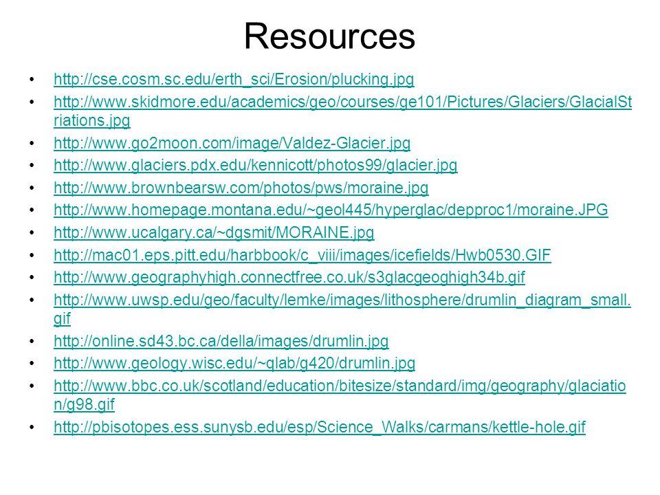 Resources http://cse.cosm.sc.edu/erth_sci/Erosion/plucking.jpg
