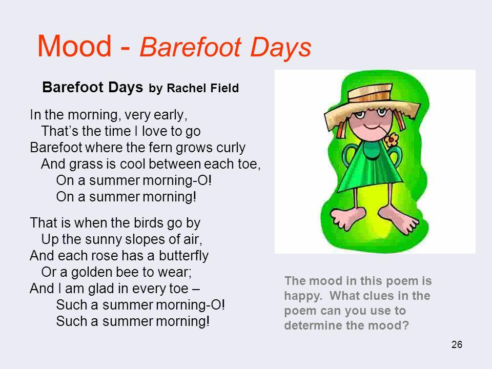 Mood - Barefoot Days Barefoot Days by Rachel Field
