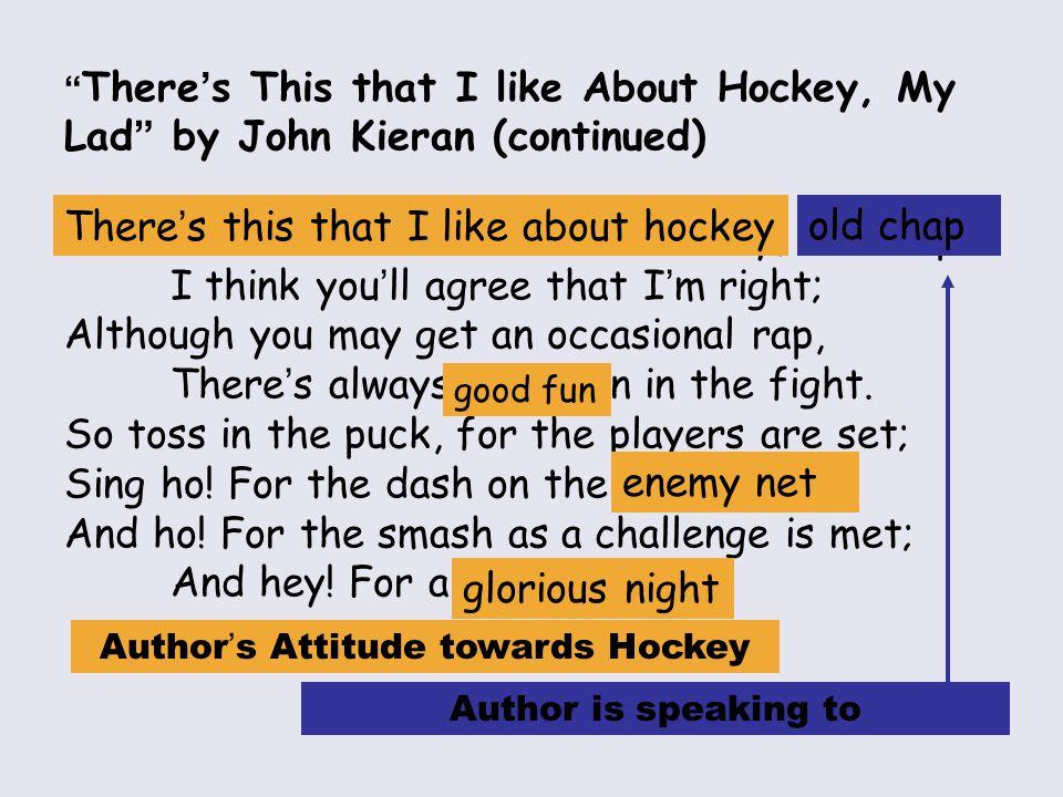 Author's Attitude towards Hockey