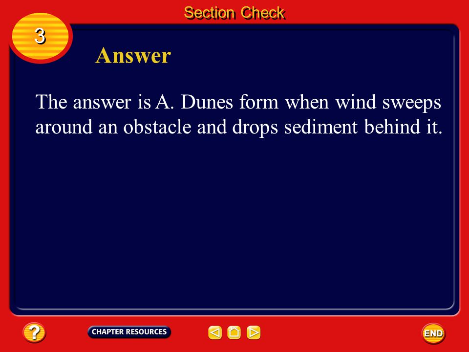 Section Check 3. Answer. The answer is A.