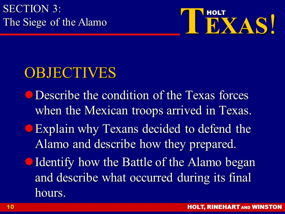 SECTION 3: The Siege of the Alamo