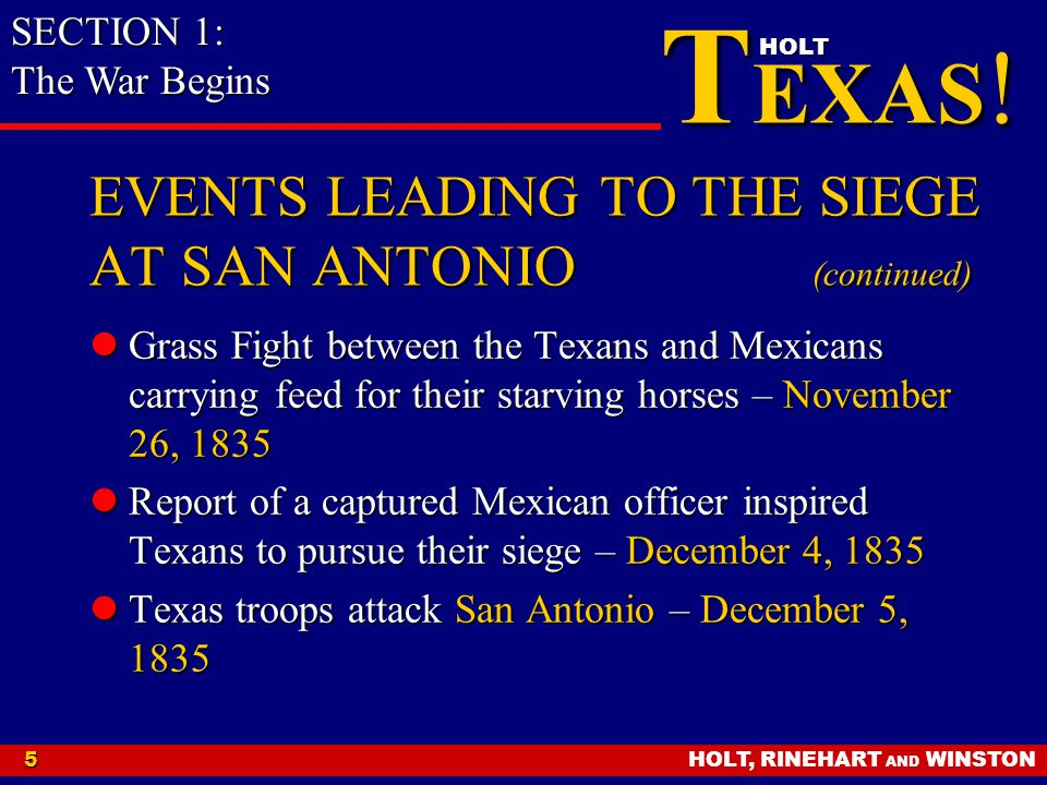 EVENTS LEADING TO THE SIEGE AT SAN ANTONIO (continued)