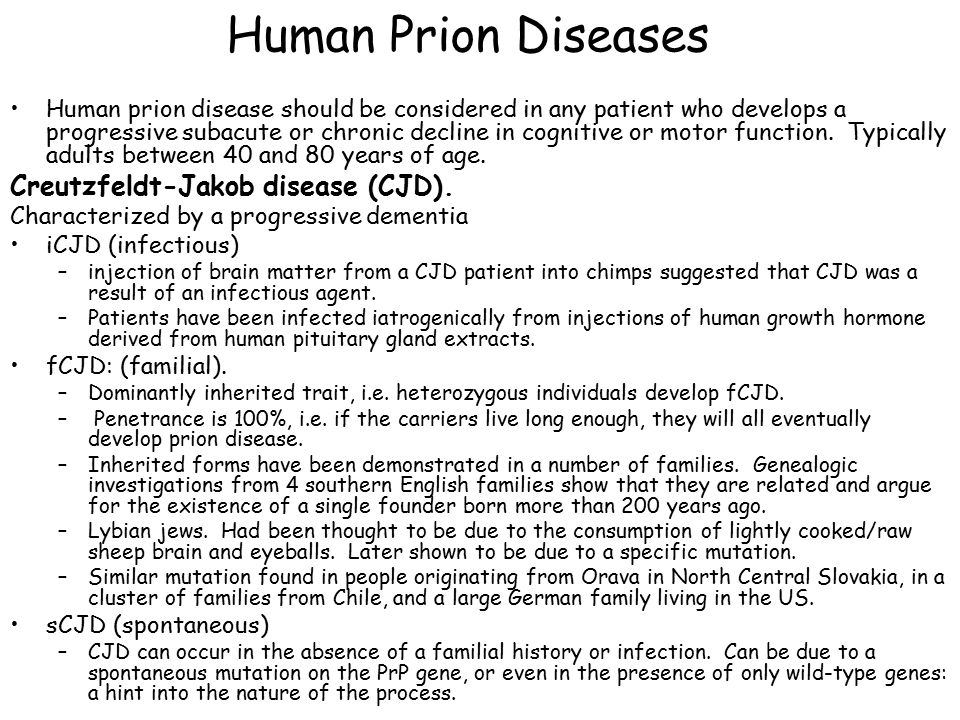 investigating prion diseases essay Author summary many neurodegenerative disorders, including alzheimer's disease, parkinson's disease and prion disease, are caused by misfolded proteins that can self-propagate in vivo and in vitro misfolded data availability: all relevant data are within the paper and its supporting information files.