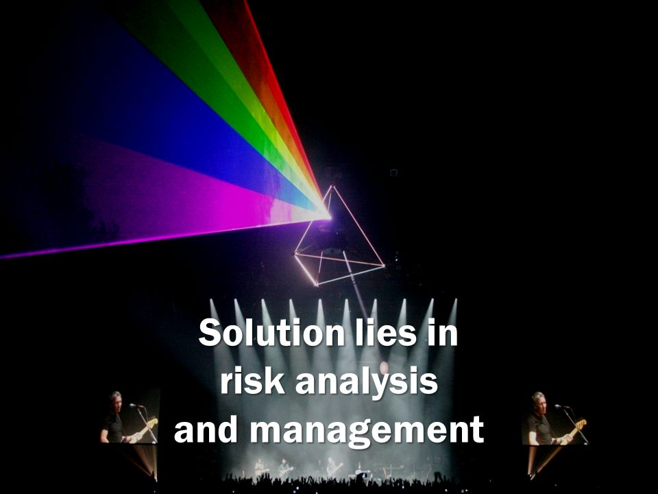Solution lies in risk analysis and management