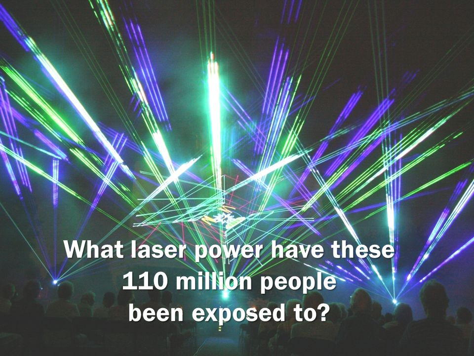 What laser power have these 110 million people been exposed to