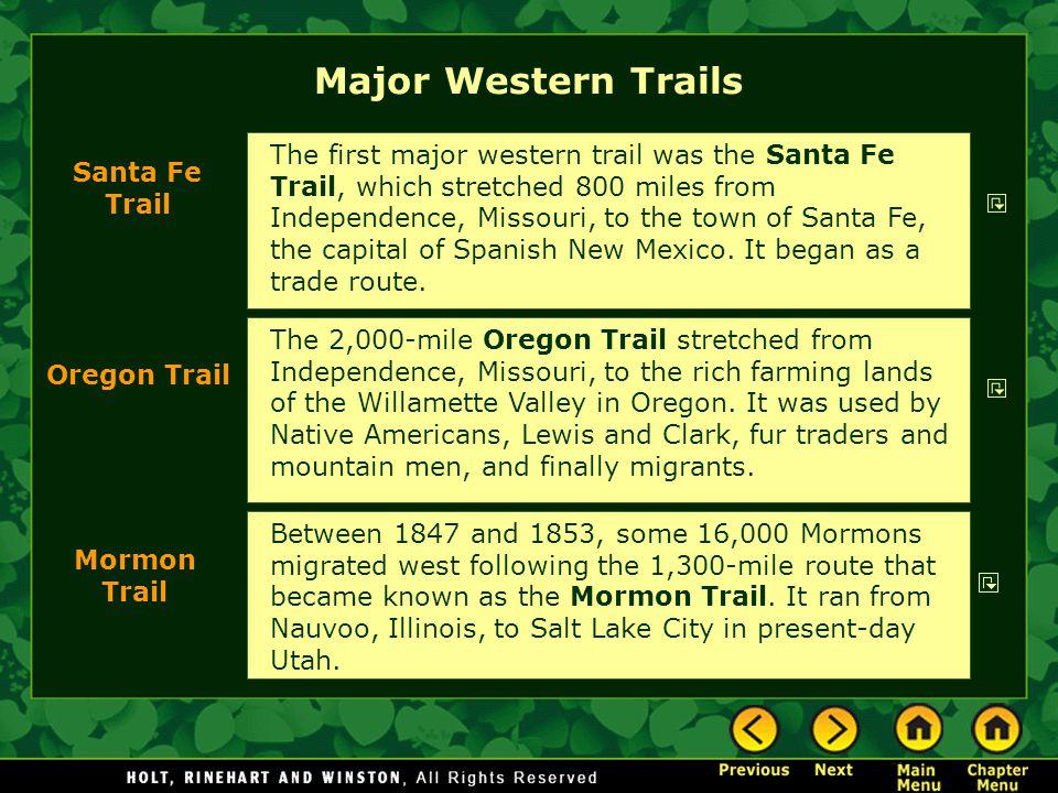 Major Western Trails