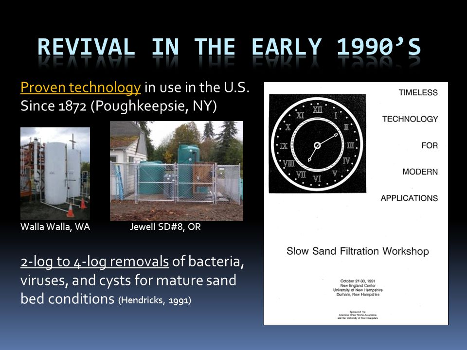 Revival in the Early 1990's Proven technology in use in the U.S. Since 1872 (Poughkeepsie, NY)