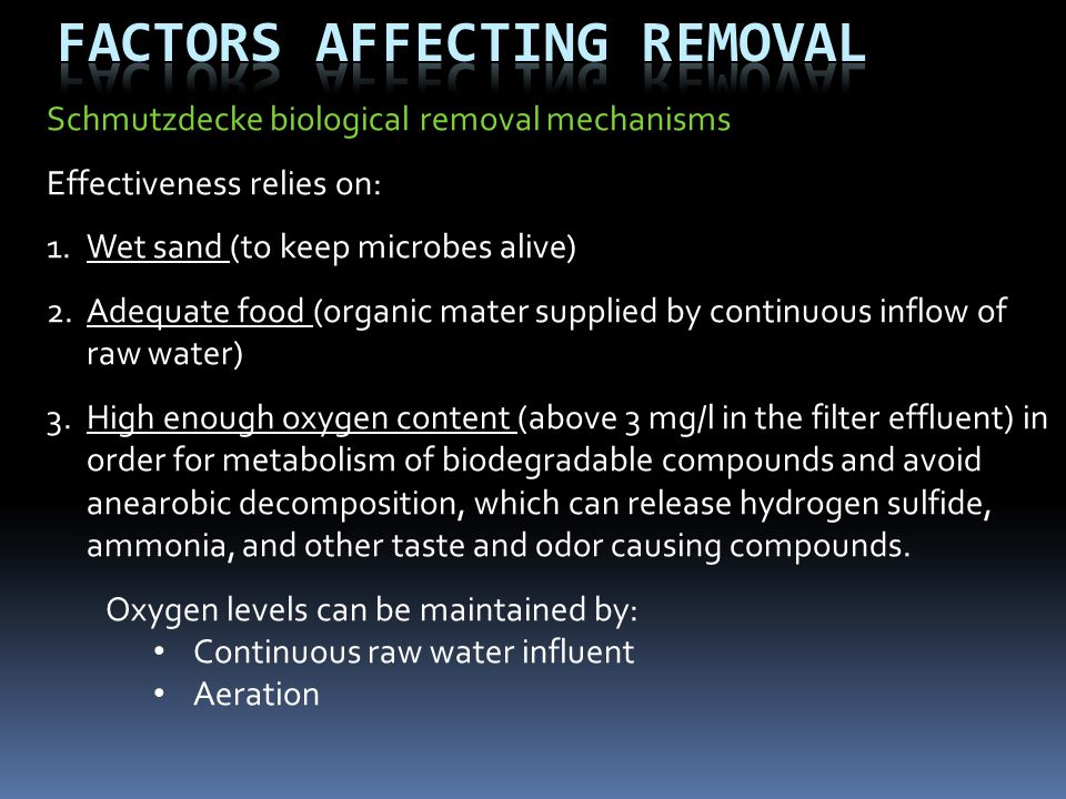 Factors Affecting Removal